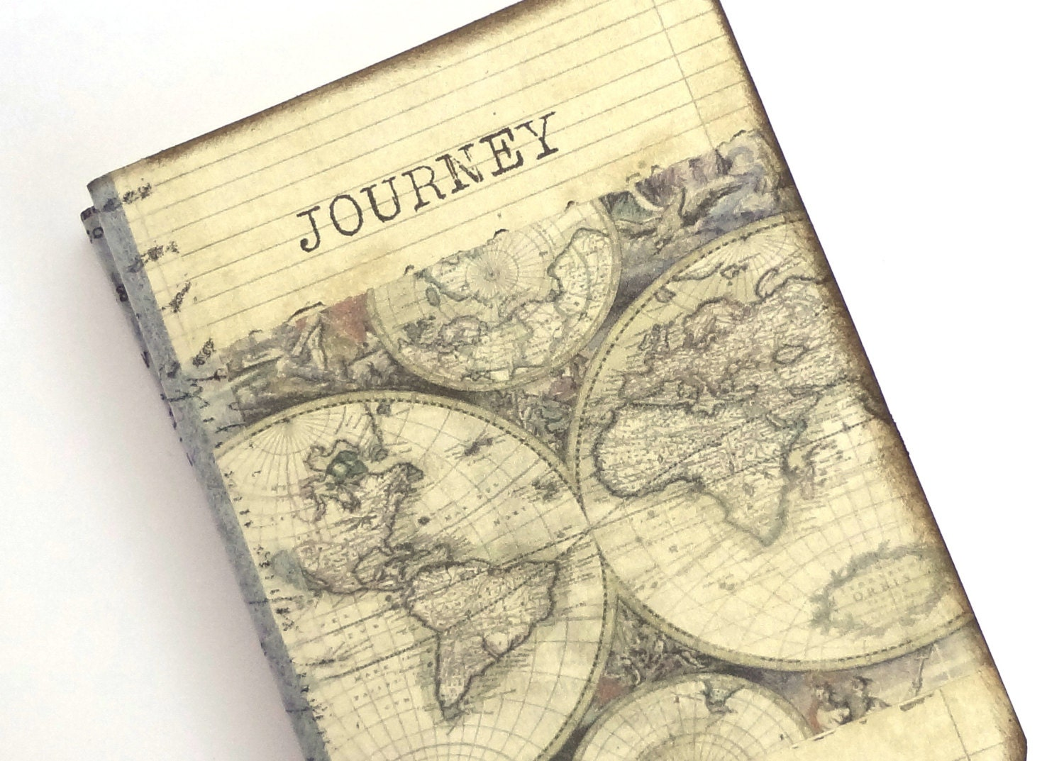 Pocket travel journal world map journal mini altered zoom sciox Images