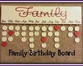 Family Birthday Board - Never Forget Birthdays Again