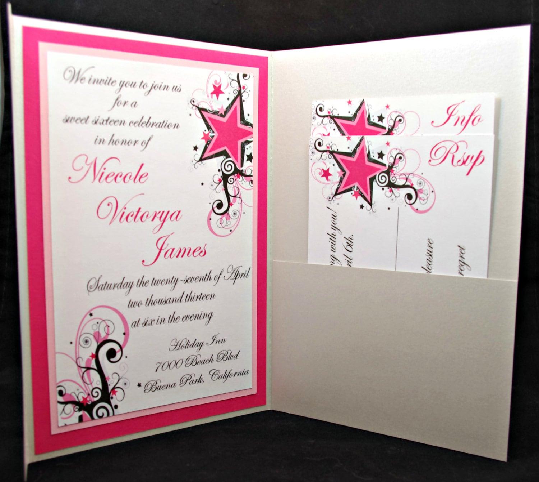 Quinceanera Star Theme Invitations Quinceanera invitationsQuinceanera Star Theme Invitations