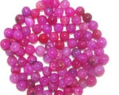 Dragon Vein Agate Beads - 8mm Pink - 20 beads (025-019)