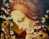 FRAMED-oil painting - portrait - fine art