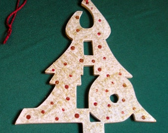 Ohio ornament, tree shaped