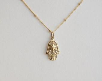 hamsa necklace, hamsa hand necklace,