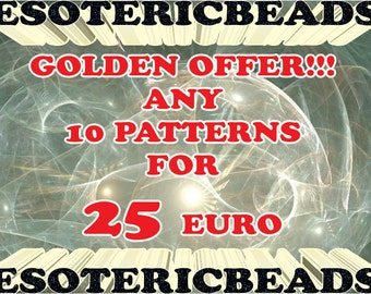 Beading Patterns Sale - Any 10 patterns for only 25 euro