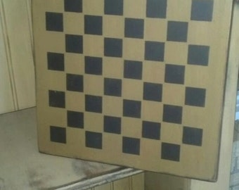 Primitive Star Checkerboard Handcrafted Sign