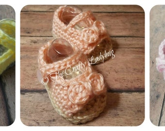 Baby peep toe booties pattern - PDF36 digital download