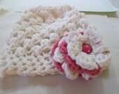Cute Crochet Flower beanie. Free shipping eight dollars what a deal :)