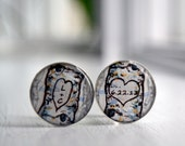 groom cuff links,  groomsmen cuff link, personalized initial and date