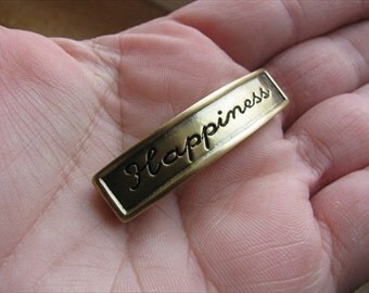 InsInspiration Bracelet Link- Word Bead- Gold- Happiness