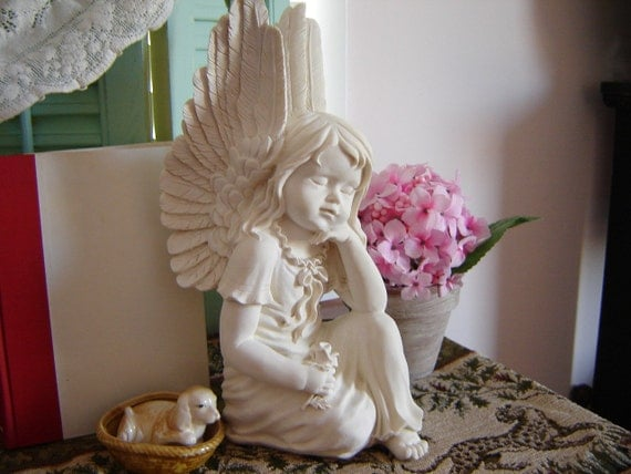 Reduced Vintage Angel Statuette Home Decor Yard Art Patio
