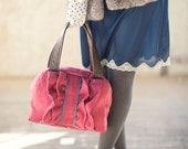 The Suedette Town Bag - Dark Rose Vegan Leather Handbag