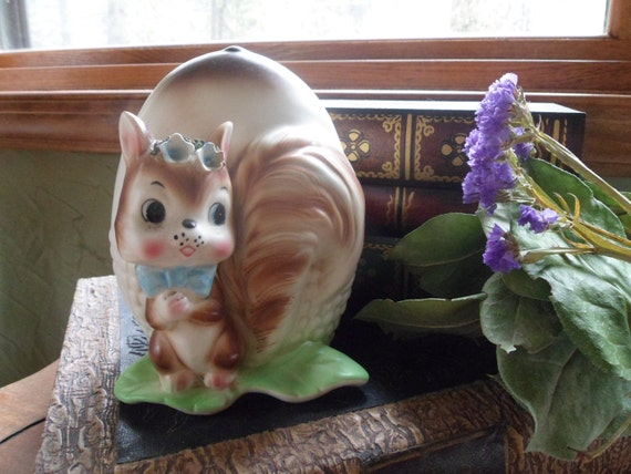 Relpo Japan Samson Imports Squirrel with Nut Planter,  Numbered 5276
