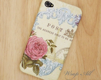 Vintage Pink Rose iPhone 4S case iPhone 4 case