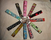 Custom Key Fob. 1 inch width only.  YOU pick fabric and nylon color.
