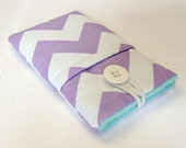 Samsung Galaxy S3, S4, S5, iPhone 4, 4s or 5, 6 or 6 plus pouch, cover, sleeve in purple and white chevron