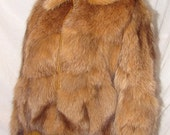 C-25 Leather and Genuine Fur Coat Jacket Great Condition Fox?