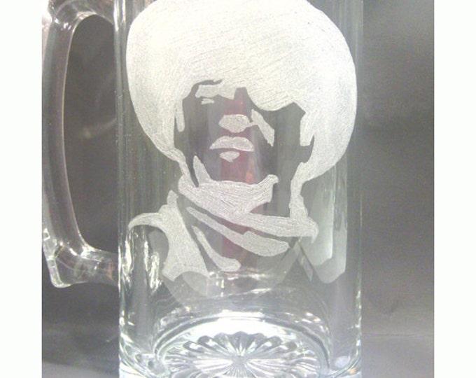 Cowboy Engraved Large Glass Mug