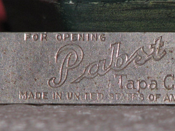 Vtintage Canco Keglined Opener   For Opening Pabst Tapa Can