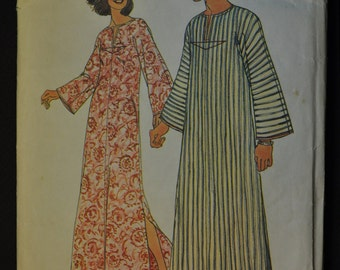 Misses' Caftan Size 10 Vintage 1970s Sewing Pattern- Simplicity 6695