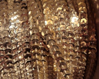 ANTIQUE Silver Sequin Trim for dress making, Christmas, millinery or projects, whole spool