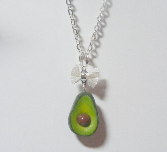 Food Jewelry Avocado Miniature Food Necklace Pendant- Miniature Food Jewellery,Handmade Jewelry,Mini Food Jewelry