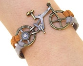 Bike bracelet, Bicycle Bracelet, Charm Bracelet,Bronze bracelet,Adjustable Bangle Bracelet,imitation leather Bracelet - anlubeads