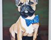 Sir Henry - French Bulldog Portrait Acrylic on canvas