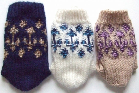 Knitting Pattern - Winter Garden Socks, ladies' women's knit Fair ...
