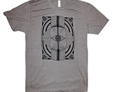 Geometric Eye Men's Screen Printed T-Shirt Sacred Geometry Psychedelic
