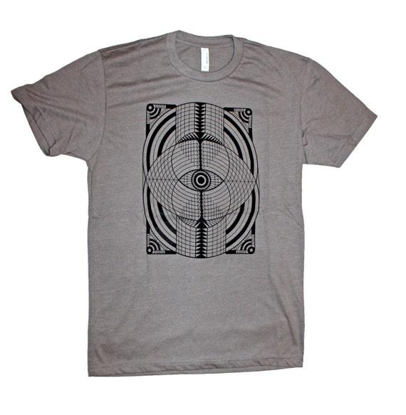 Geometric Eye Men's Screen Printed T-Shirt Sacred Geometry Psychedelic