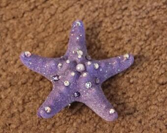 CUSTOM MERMAID STARFISH Sea Star Hair Clip