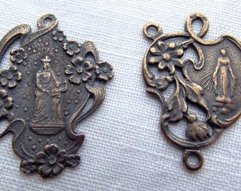 Bronze St. Anne & Our Lady Chaplet Medal Set