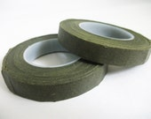 Reserved for  Theresa 30 Yards 1 Roll  Floral Tape / Olive Green, Brown