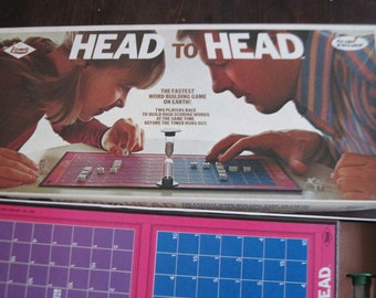 Lowes Head to Head Board Game and Instructions  1972,Vintage Board Game,Family Game Night,Toys,Vintage Toys  /:)S