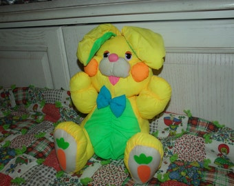 Puff A Lump Bunny, Stuffed Bunny, Stuffed Vintage Toy Bunny, Toy Bunny, Yellow Puff A Lump Sweet Bunny Puff A Lump Type Silky Body Cuddly :)