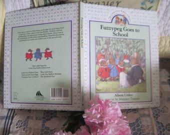 Fuzzypeg Goes to School By Alison Uttley, Grey Rabbit Library, Rabbit, Bunny, Vintage Children's Book, Vintage Book,