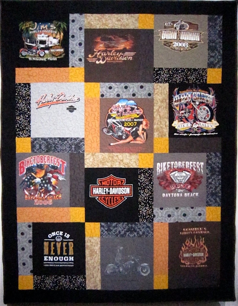 Harley Davidson T Shirt Quilt One Of A Kind Florida