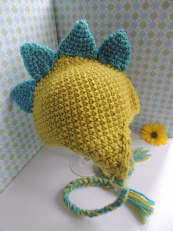 Newborn Dinosaur Hat Knitting Pattern : Crochet Baby Dinosaur Hat