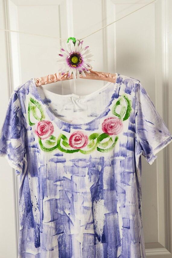 Hand Painted Sun Dress - Hand Painted Dress - Beach Dress - Cover Up - Plus Sizes - Kauai Hawaii Dress