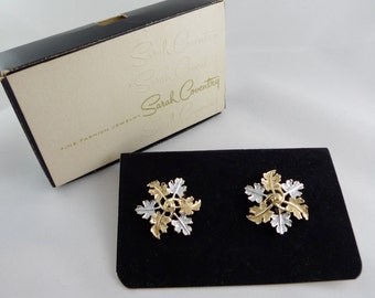 Vintage Sarah Coventry Garland Earrings in Original Box - NOS UC126