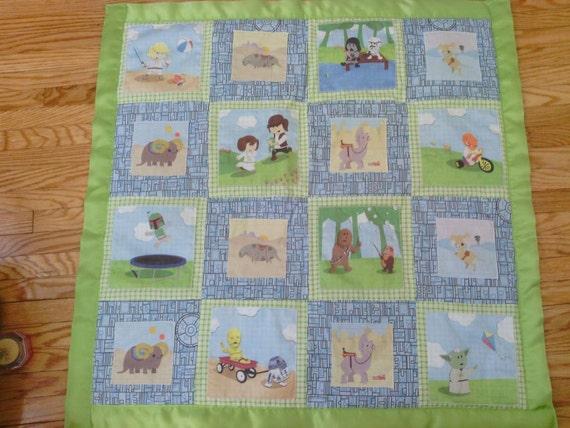 Star Wars Green Chibi Baby Blanket by Namouri on Etsy