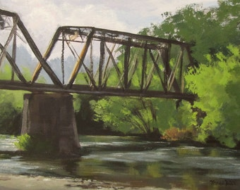 Myrtle Creek Trestle - Original Landscape Painting