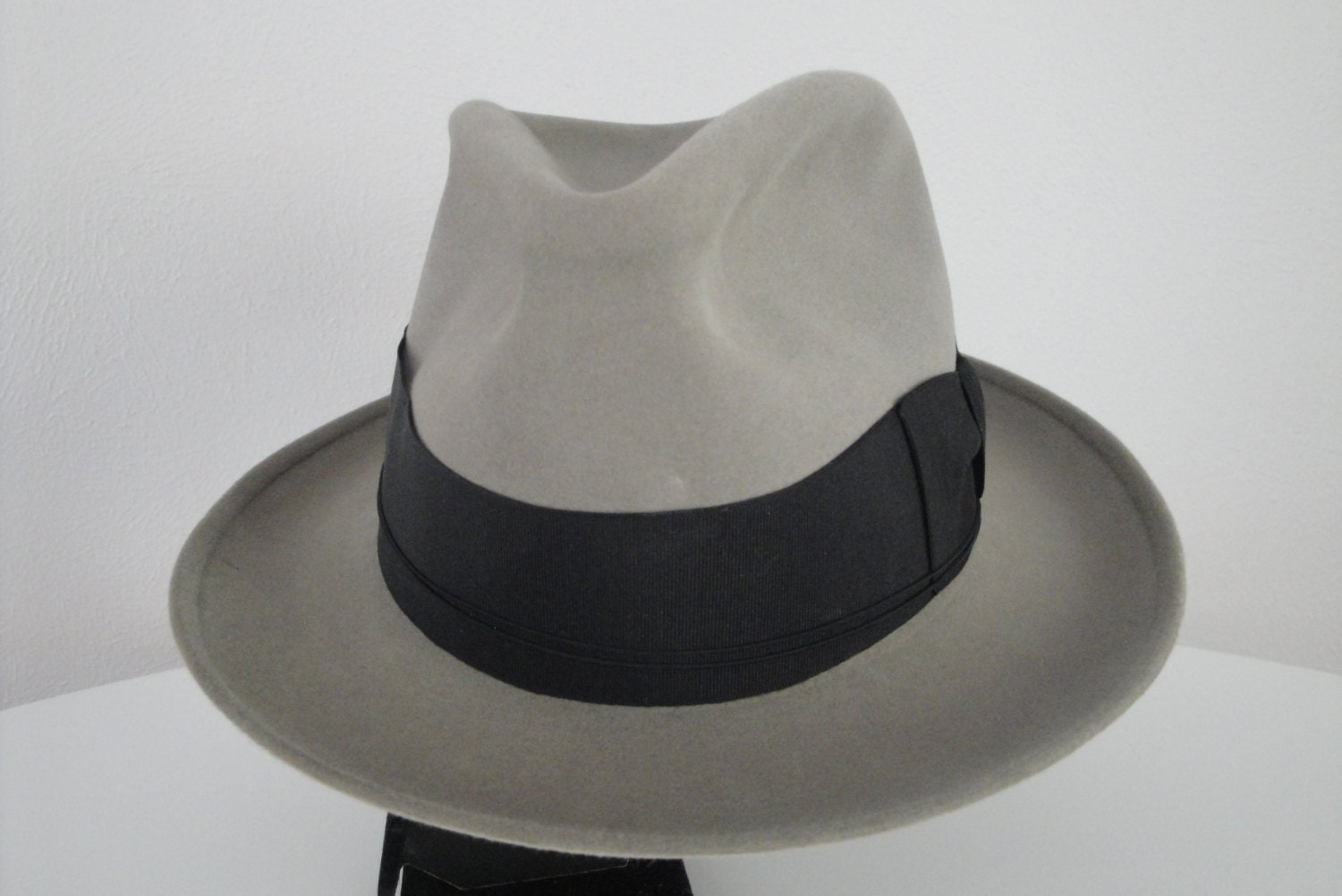 Vintage 1940s 40s or 1930s 30s Mens Hat Borsalino Fedora Made