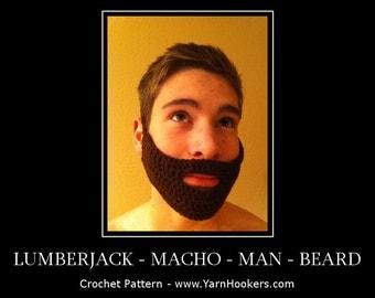 Written Crochet PATTERN: Lumberjack Macho Man Beard - Instant Download