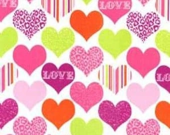 Michael Miller fabric LOVE and HEARTS