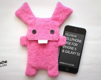 Fluffy Cellphone Case for iPhone 5 & SE - Fellfische - Candy Bunny