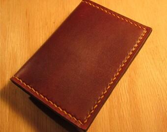 Brown Leather Wallet, Slim Wallet, Minimalist Wallet, Money Clip Wallet, Personalized Wallet,  Mens Leather Wallet, Leather Wallet
