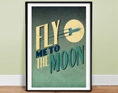 """Fly Me To The Moon 24"""" x 36"""" Poster Art Print"""