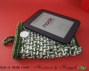 MARKDOWN SALE!!! - Nook Simple Touch of Kindle cover - handmade crochet
