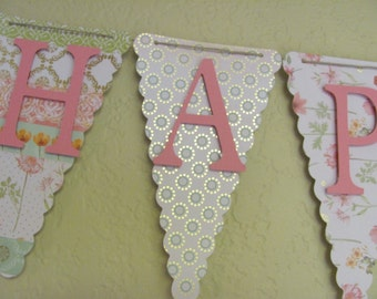 Birthday Banner, Happy Birthday Banner, Happy Birthday, Girl Banner 1st Birthday